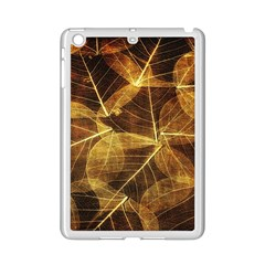 Leaves Autumn Texture Brown Ipad Mini 2 Enamel Coated Cases by Nexatart