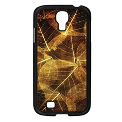 Leaves Autumn Texture Brown Samsung Galaxy S4 I9500/ I9505 Case (black) by Nexatart