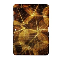 Leaves Autumn Texture Brown Samsung Galaxy Tab 2 (10 1 ) P5100 Hardshell Case