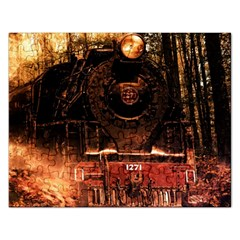 Locomotive Rectangular Jigsaw Puzzl