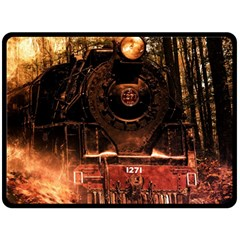 Locomotive Double Sided Fleece Blanket (large)  by Nexatart