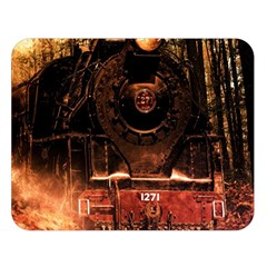 Locomotive Double Sided Flano Blanket (large)