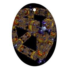 Machine Gear Mechanical Technology Ornament (oval)
