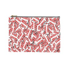 Merry Christmas Xmas Pattern Cosmetic Bag (large)