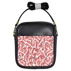 Merry Christmas Xmas Pattern Girls Sling Bags