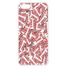 Merry Christmas Xmas Pattern Apple Iphone 5 Seamless Case (white)