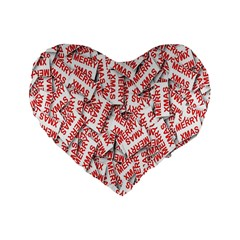 Merry Christmas Xmas Pattern Standard 16  Premium Heart Shape Cushions by Nexatart