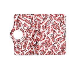 Merry Christmas Xmas Pattern Kindle Fire HD (2013) Flip 360 Case by Nexatart