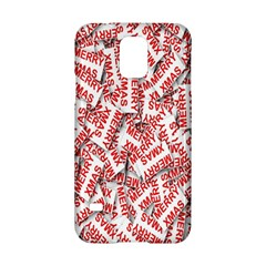 Merry Christmas Xmas Pattern Samsung Galaxy S5 Hardshell Case