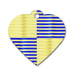 Metallic Gold Texture Dog Tag Heart (one Side)