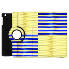 Metallic Gold Texture Apple Ipad Mini Flip 360 Case by Nexatart