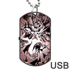 Metal Lighted Background Light Dog Tag Usb Flash (one Side)