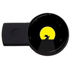 Moon And Dragon Dragon Sky Dragon USB Flash Drive Round (1 GB) by Nexatart