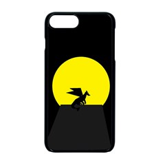 Moon And Dragon Dragon Sky Dragon Apple iPhone 7 Plus Seamless Case (Black) by Nexatart