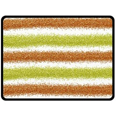 Metallic Gold Glitter Stripes Fleece Blanket (large)