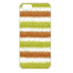 Metallic Gold Glitter Stripes Apple Iphone 5 Seamless Case (white)
