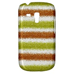Metallic Gold Glitter Stripes Galaxy S3 Mini