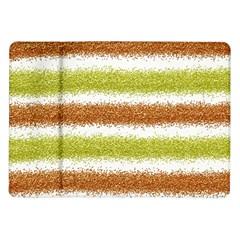 Metallic Gold Glitter Stripes Samsung Galaxy Tab 10 1  P7500 Flip Case