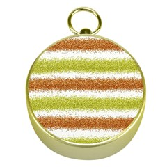 Metallic Gold Glitter Stripes Gold Compasses