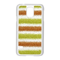 Metallic Gold Glitter Stripes Samsung Galaxy S5 Case (white)