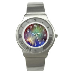 Metallizer Art Glass Stainless Steel Watch
