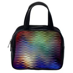 Metallizer Art Glass Classic Handbags (one Side)