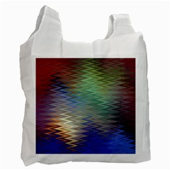 Metallizer Art Glass Recycle Bag (two Side)  by Nexatart
