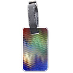 Metallizer Art Glass Luggage Tags (two Sides)