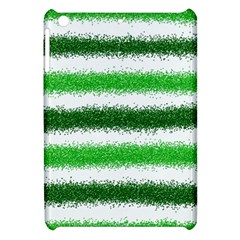 Metallic Green Glitter Stripes Apple Ipad Mini Hardshell Case