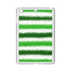 Metallic Green Glitter Stripes Ipad Mini 2 Enamel Coated Cases by Nexatart