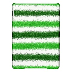 Metallic Green Glitter Stripes Ipad Air Hardshell Cases