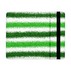 Metallic Green Glitter Stripes Samsung Galaxy Tab Pro 8 4  Flip Case by Nexatart