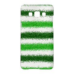 Metallic Green Glitter Stripes Samsung Galaxy A5 Hardshell Case