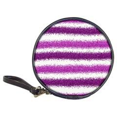 Metallic Pink Glitter Stripes Classic 20 Cd Wallets