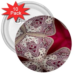 Morocco Motif Pattern Travel 3  Buttons (10 Pack)  by Nexatart