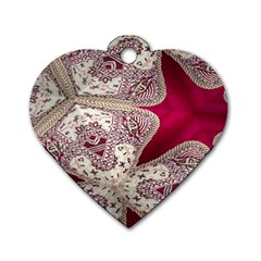 Morocco Motif Pattern Travel Dog Tag Heart (two Sides) by Nexatart