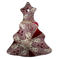 Morocco Motif Pattern Travel Christmas Tree Ornament (two Sides) by Nexatart