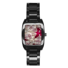 Morocco Motif Pattern Travel Stainless Steel Barrel Watch by Nexatart
