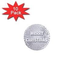 Oints Circle Christmas Merry 1  Mini Magnet (10 pack)  by Nexatart