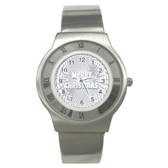 Oints Circle Christmas Merry Stainless Steel Watch