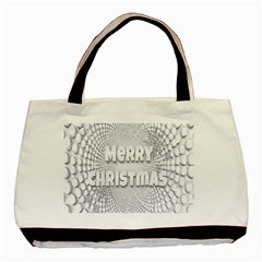 Oints Circle Christmas Merry Basic Tote Bag