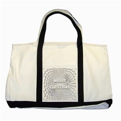 Oints Circle Christmas Merry Two Tone Tote Bag