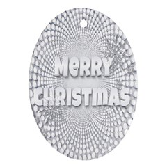 Oints Circle Christmas Merry Oval Ornament (two Sides)