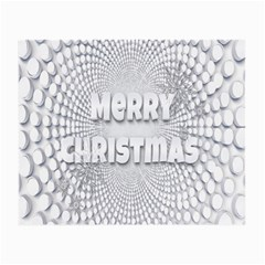 Oints Circle Christmas Merry Small Glasses Cloth (2 Side) by Nexatart