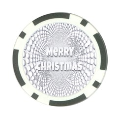 Oints Circle Christmas Merry Poker Chip Card Guard by Nexatart