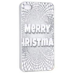 Oints Circle Christmas Merry Apple Iphone 4/4s Seamless Case (white)
