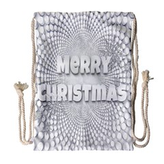 Oints Circle Christmas Merry Drawstring Bag (large) by Nexatart