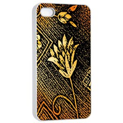 Orange Paper Patterns For Scrapbooking Apple Iphone 4/4s Seamless Case (white)