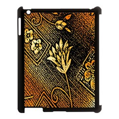 Orange Paper Patterns For Scrapbooking Apple Ipad 3/4 Case (black) by Nexatart
