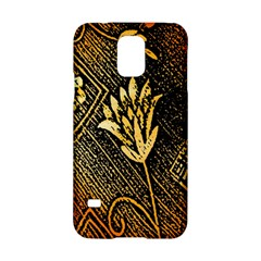 Orange Paper Patterns For Scrapbooking Samsung Galaxy S5 Hardshell Case